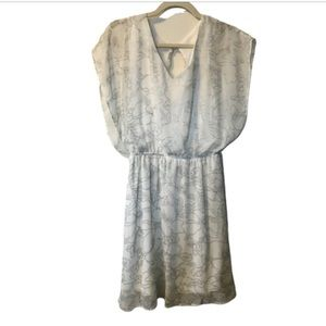 Francesca's Large white and silver floral dress